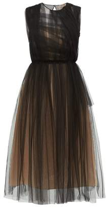 No.21 No. 21 - Ruched Tulle Dress - Womens - Black