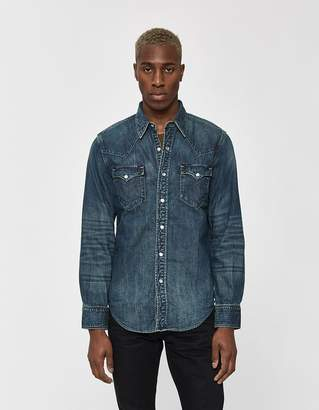 8ef63836 Ralph Lauren RRL Buffalo Western Shirt in Dark Wash