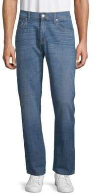 7 For All Mankind Stretch Cotton Straight-Leg Jeans