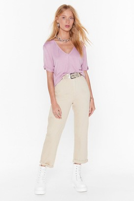 Nasty Gal Womens Stacey'S Mom High-Waisted Jeans - Beige - L