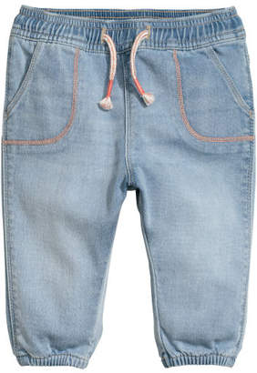 H&M Denim pull-on trousers - Blue