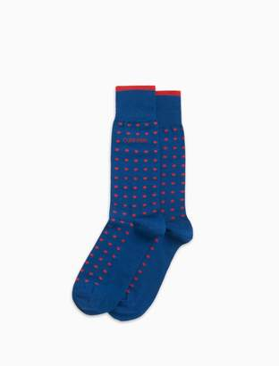 Calvin Klein polka dot combed cotton dress socks