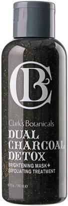 Clark's Botanicals Dual Charcoal Detox Brightening Mask + Exfoliating Treatment