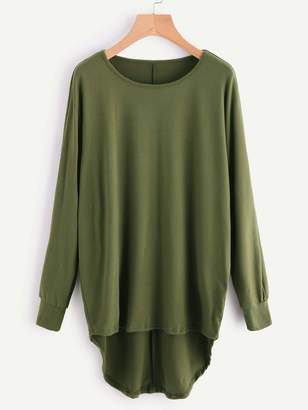 Shein High Low Oversized Batwing Tee