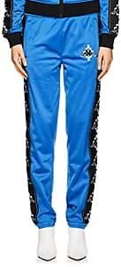 Marcelo Burlon County of Milan Women's Tech-Jersey Track Pants-Blue, White