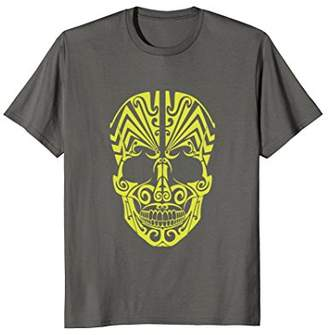New Zealand face paint skull - Bright yellow T shirt
