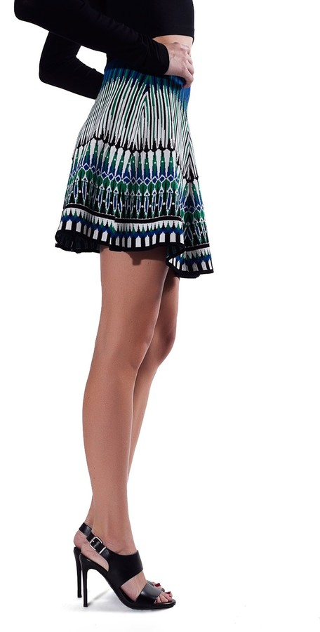 Torn By Ronny Kobo Anabella Skirt - Green