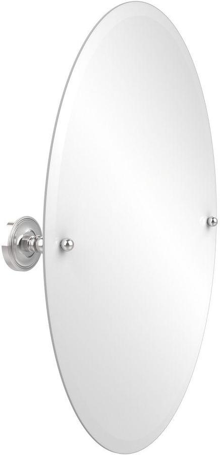 Allied Brass Prestige Regal Collection 21 in. x 29 in. Frameless Oval Single Tilt Mirror with Beveled Edge in Polished Chrome