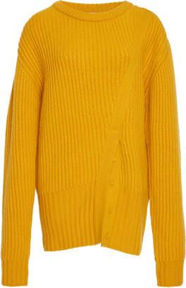 Prabal Gurung Ribbed Cashmere Crewneck Sweater