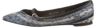 Salvatore Ferragamo Leather Pointed-Toe Flats