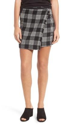 Women's Madewell Plaid Wrap Miniskirt $98 thestylecure.com