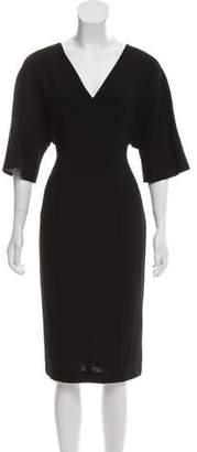 Black Halo Short Sleeve Midi Dress w/ Tags