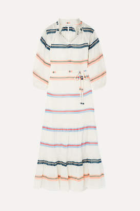 Apiece Apart Granada Striped Cotton-voile Maxi Dress - Ivory