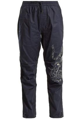 MHI Tiger-embroidery cotton trousers