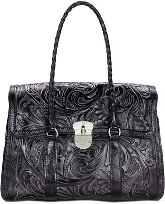 Patricia Nash Tuscan Tooled Vienna Top-Flap Shoulder Bag