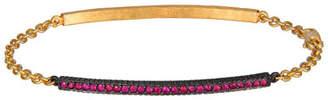 Yossi Harari 18k Ruby ID Chain Bracelet