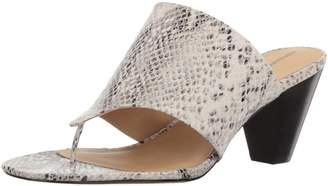 Adrienne Vittadini Footwear Women's Prusha Cone Heel Thong Dress Sandal, Snake Print