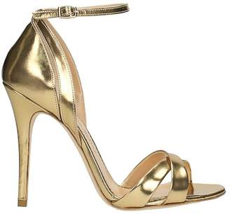 The Seller Mirror Gold Leather Sandals