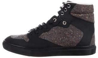 Balenciaga Tweed High-Top Sneakers