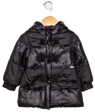 Junior Gaultier Girls' Hooded Puffer Coat