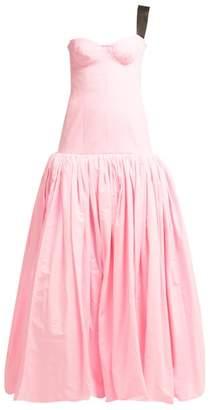 Natasha Zinko Princess One Shoulder Gathered Gown - Womens - Pink