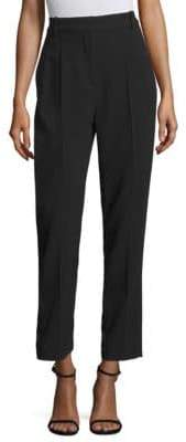 Rebecca Taylor Crepe Pleated Ankle Pants