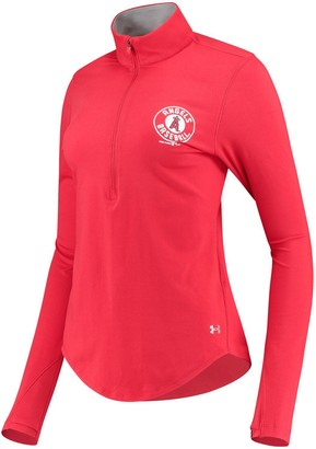 Under Armour Unbranded Women's Red Los Angeles Angels Charged Cotton Half-Zip Pullover Jacket