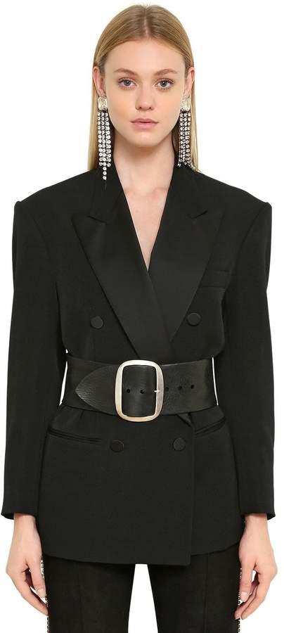Double Breasted Wool Tuxedo Jacket