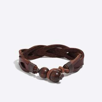 J.Crew Leather braided bracelet