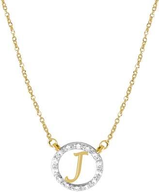 JANE BASCH DESIGNS Diamond Pave Initial Pendant Necklace