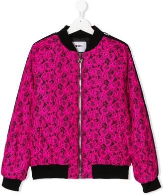 MSGM Kids TEEN lace bomber jacket