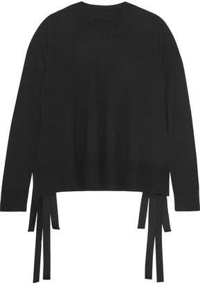 MM6 MAISON MARGIELA Tie-side Knitted Sweater - Black
