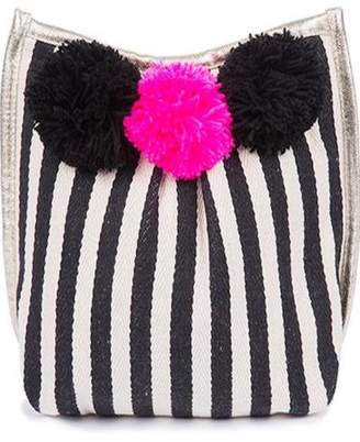 JADEtribe Nautical Pom-Pom Clutch