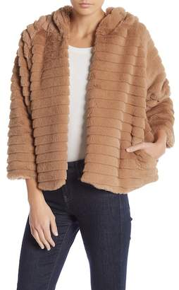 Lola Made In Italy Faux Fur Hooded Coat