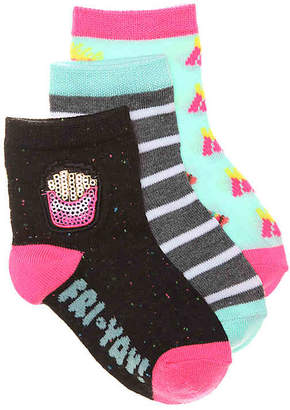 Olive & Edie Fri Yay Infant, Toddler & Youth Ankle Socks - 3 Pack - Girl's