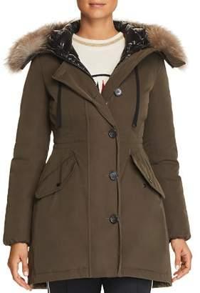 Moncler Monticole Fur Trim Down Coat