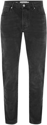 Topman Grey Wash Stretch Slim Jeans
