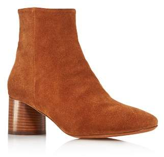 Vince Women's Tillie Round Toe Suede Mid-Heel Booties - 100% Exclusive