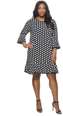 MICHAEL Michael Kors Size Simple Dot Flounce Dress Women's Dress
