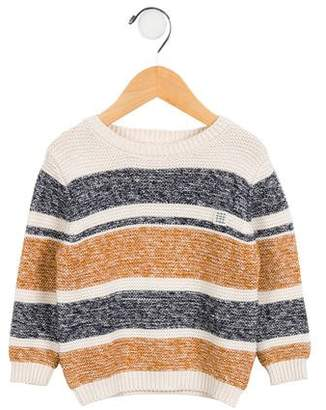 Carrèment Beau Boys' Embroidered Striped Sweater w/ Tags