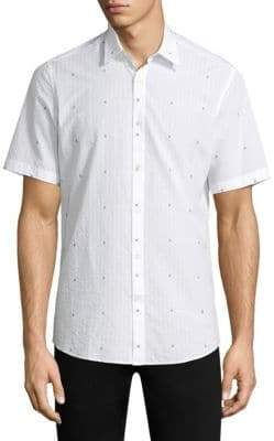 Salvatore Ferragamo Woven Cotton Button-Down Shirt