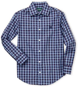 Lauren Ralph Lauren Boys 8-20) Blue Plaid Dress Shirt