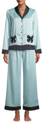 Kate Spade Classic Charmeuse Pajama Set With Bows