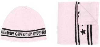 Givenchy Kids branded hat and scarf set