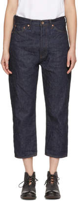 Chimala Indigo Wide Tapered Selvedge Denim Jeans