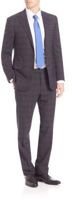 Polo Ralph LaurenPurple Label Slim-Fit Linear Plaid Suit