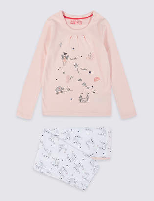 Marks and Spencer Pure Cotton Pyjamas (1-7 Years)