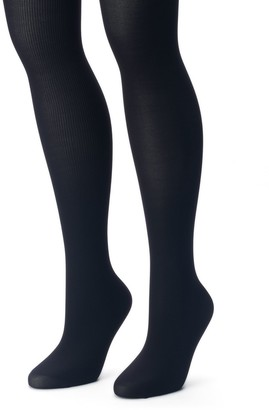 bd9170fc542 Apt. 9 Women s 2-pk. Ribbed   Solid Tights