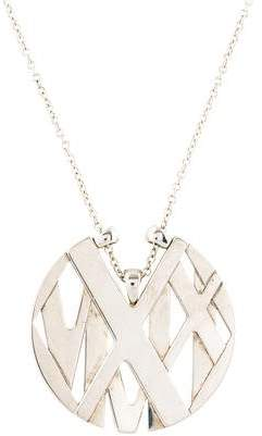 Tiffany & Co. Atlas Round Pendant Necklace