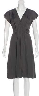 Prada Gathered Belted Dress